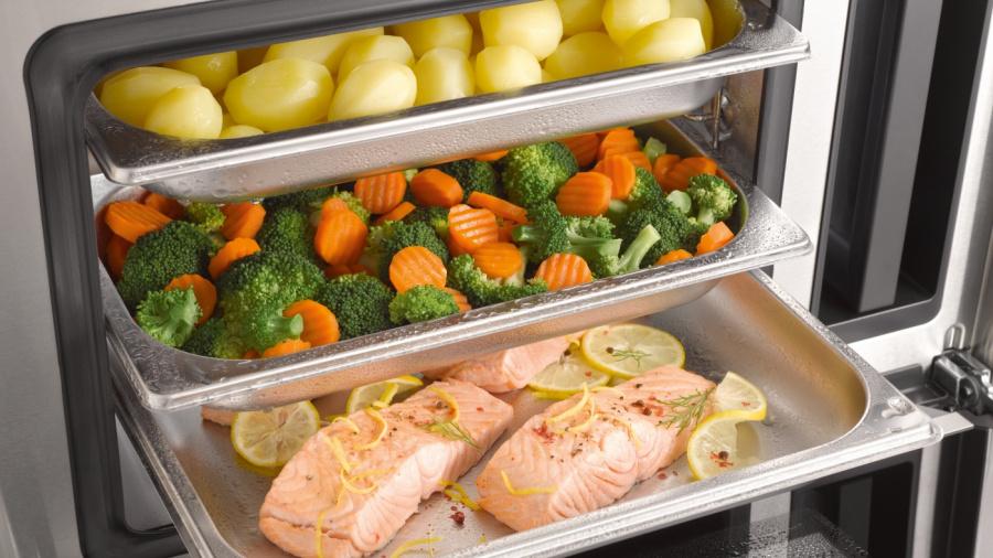 Автоматическое приготовление полноценного меню в пароварках Miele