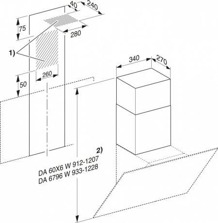 Короб для вытяжки DADC6000