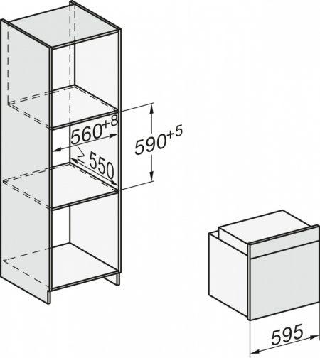 Духовой шкаф H2265-1B EDST/CLST сталь CleanSteel