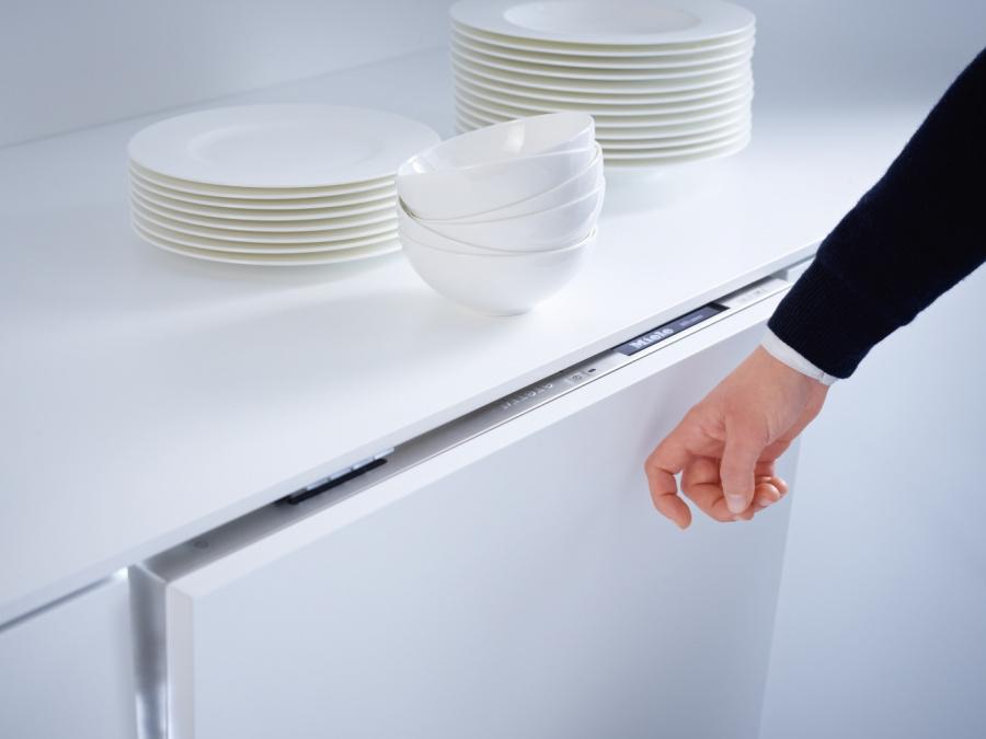 Функция Knock2open посудомоечная машина Miele