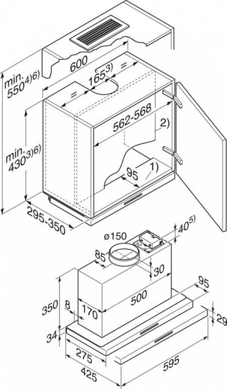 Вытяжка с плоской выдвижной панелью Ширина: 60 см Производительность (интенс.): 550 м3/час Скоростные режимы: 3+интенсивный Автоматическое отключение интенсивной ступени мощности Светодиодная подсветка, 2х3 Вт Кнопки со светодиодными индикаторами Технология CleanCover Остаточный ход мотора