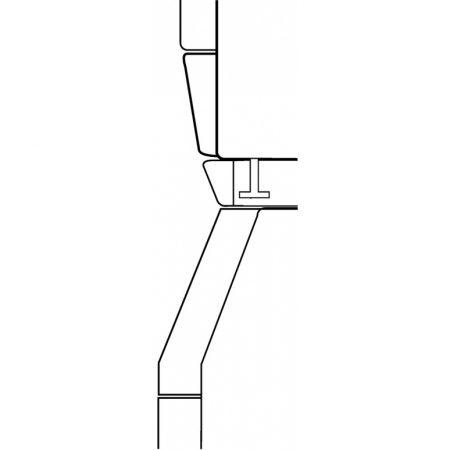 Монтажный комплект для установки в колонну WTV407 белый лотос